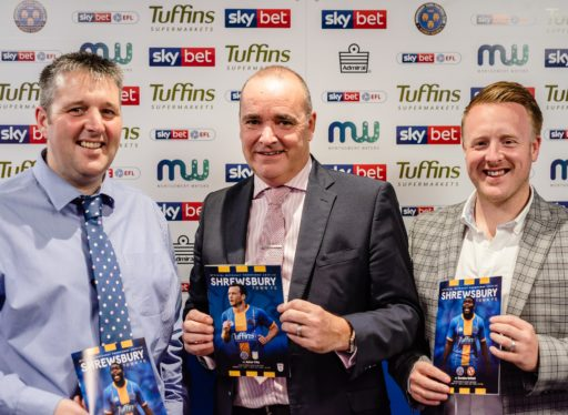 WPG are the official printers for Shrewsbury Town Football Club programme