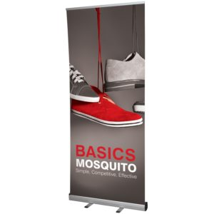 a roller banner in the mosquito style - standard roller banner design
