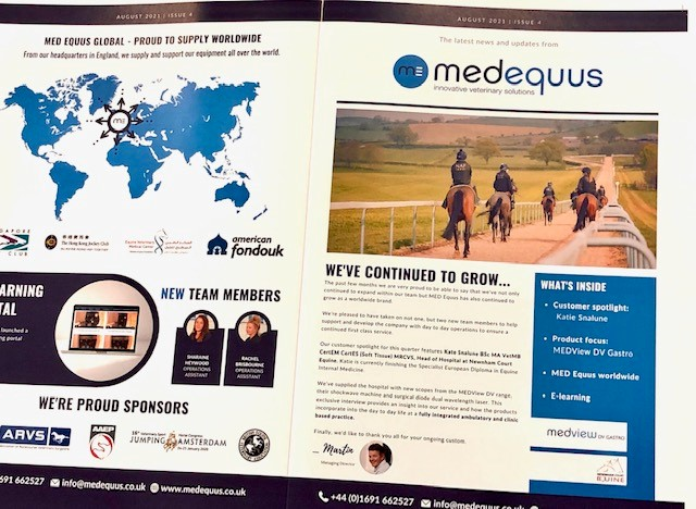 Exhibition success for Med Equus Ltd at Birmingham ICC with help from WPG